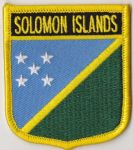 Solomon Islands Embroidered Flag Patch, style 07.
